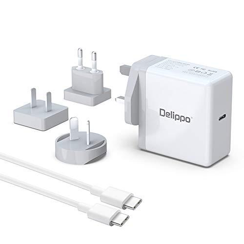 Delipp 65W PD USB C Universal AC Adapter Reiseladegerät für Nintendo Switch Support TV Mode