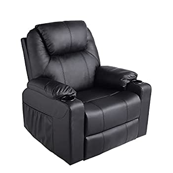 MAGIC UNION Wireless Remote Massage Recliner Chair with Heat 360 Rocking Chair for Babies Nursery Lazy Boy Recliner Chair for Living Room Leather Recliner Sofa Swivel Chair on Clearance