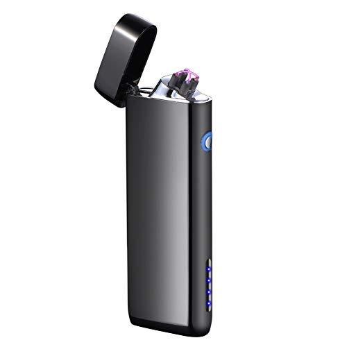 Supreme glory Plasma Mechero USB Recargable mechero Arco eléctrico Encendedor sin Llama cigarro Resistente al Viento mechero de Bolsillo para Barbacoa Fuego Velas Cigarrillos Exterior Camping