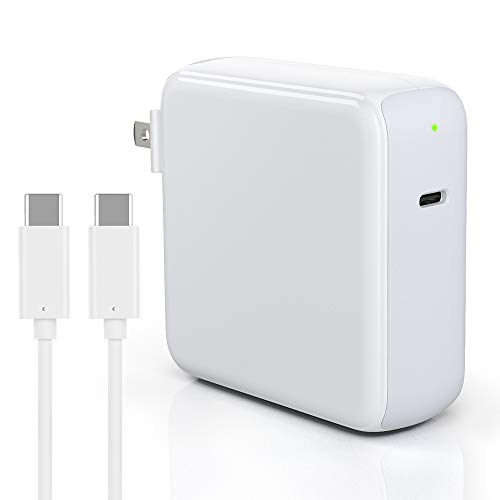 Zealife 96W USB-C Power Adapter Charger Compatible with MacBook Pro 16 15 13 inch 2020 2019 2018 New Air 13 inch, Thunderbolt 3 Laptop Charger Block with LED, Foldable Plug, 6.6ft 5A Type-C to C Cord