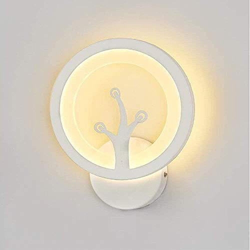 Wandlampen binnen LED Modern White Wall Wash lichten for Living Room Slaapkamer Gang Gang Trap Acryl Wandlamp Direction verlichtingsarmaturen for Living Room, warm licht, Kleur: Wit Licht