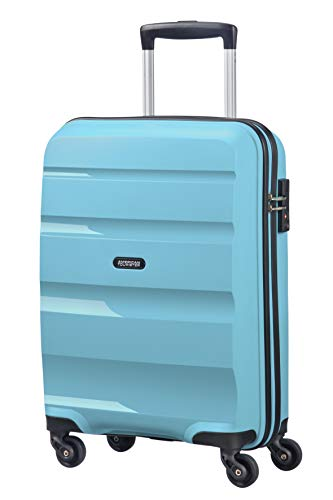 American Tourister Bon Air - Spinner Small Strict Equipaje de Mano, 55 cm, 31.5 Liters, Azul (Blue Topaz)