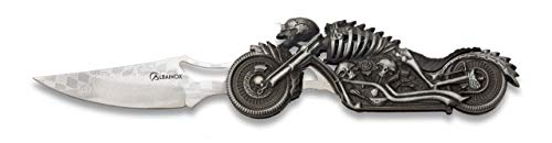 Albainox 18063 Navaja Moto Skeleton Albainox. Hoja: 8.5 Herramienta para Caza, Pesca,...