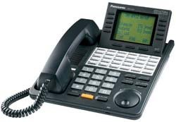 Panasonic KX T7436B - Corded phone - 24-line operation - black