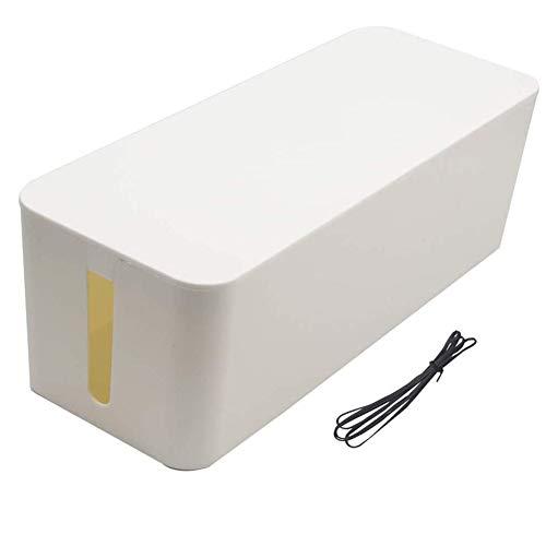 heyesupio Grande boîte de Gestion des câbles Boîte de Rangement de l'organisateur de câbles, Couvercle de Ligne de Cordon Boîte d'extension de Gestion des câbles, 40 * 15,5 * 13,4 cm