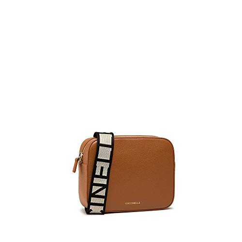 Coccinelle Umhängetasche Modell Tebe groß aus Leder Farbe Braun Damen 22 x 17 x 6 cm