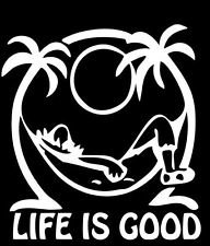 Keen Life is Good at The Beach Decal Vinyl Sticker|Cars Trucks Walls Laptop|White|5.5 in|KCD642