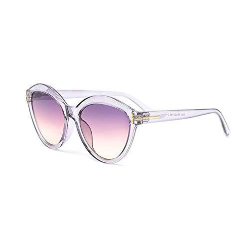 TEYUN Lujo Vintage Gato Gafas de Sol Plástico Gafas de Sol Mujeres Marca Diseño Gradiente Gafas de Sol para Hombre Espejo Sombras UV400 Oculos de Sol (Color : B)