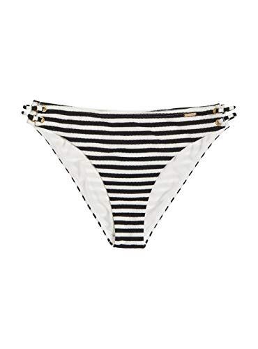 Superdry Alice Textured Cupped Bikini Bottom Mono Stripe (XS)