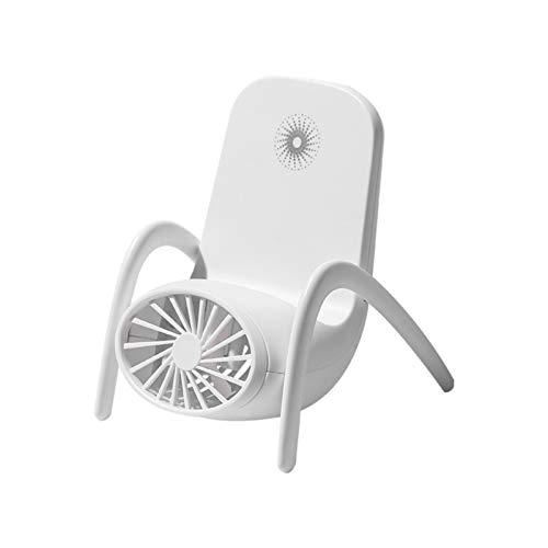 XIUNIA Mini Ventilador Creativo Se Puede Utilizar Como Soporte para Teléfono Móvil Creativo Escritorio Ventilador Portátil Recargable USB Silencioso Ventilador Portátil Adecuado para