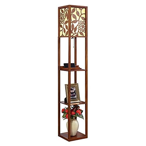 Indoor Oppervlieglamp met planken Simple Designs Home Organizer Opbergplank met stof Lampenkap Vloerlamp Home(Remote…