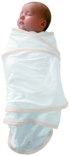 RED CASTLE Couverture bébé/naissance/d'Emmaillotage, 100% coton, Apaise bébé, Possibilité Gigoteuse d'emmaillotage, Couverture Miracle, 0-3 mois, Uni Blanc