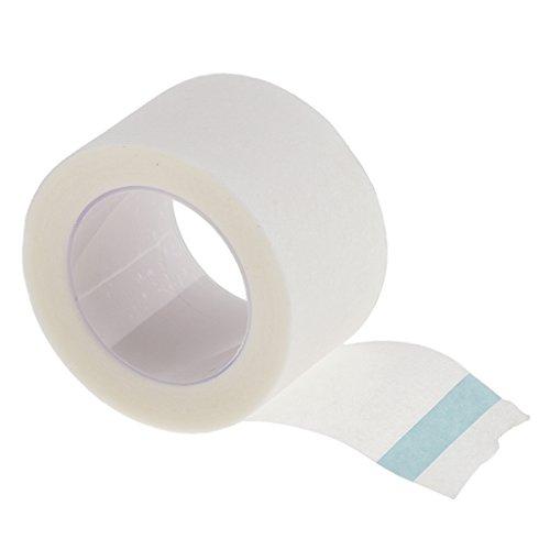 Gazechimp 2.5cm * 9m Rollen Micropore Hautfreundliches Pflaster Make Up Tape für Wimpernverlängerung - Lashes Extensions Klebepflaster - Weiß