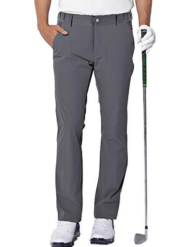 aoli ray Hombre Golf Pantalones Impermeables Ligeros Deporte Pants Gris Tamaño:36~38'