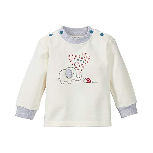 Bornino Sweat-shirt manches longues éléphant et coccinelle T-shirt bébé vêtements bébé, offwhite
