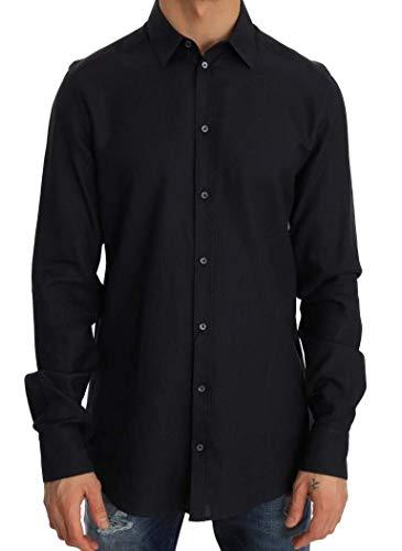 Dolce & Gabbana - Herren Hemd - Men Shirt Blue Formal Slim Fit Cotton Shirt - Size: 40