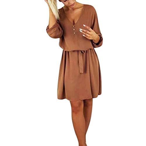 iHENGH Damen Frühling Sommer Rock Bequem Lässig Mode Kleider Frauen Röcke beiläufiges festes...