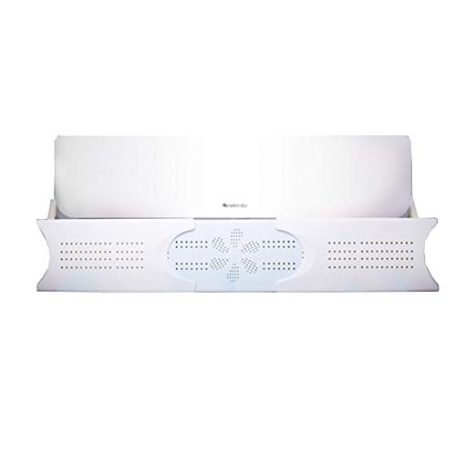 BCGT Deflettore del condizionatore d'Aria per Il Muro Aria condizionata centralizzata, impedire l'aria di soffiare Dritto, Regolabile ad Angolo, Adatto per 81-108 cm (Size : Three-Piece Set)