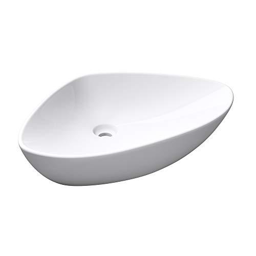 doporro Brüssel215 Waschbecken aus Keramik in weiß, inkl. Nano-Versiegelung