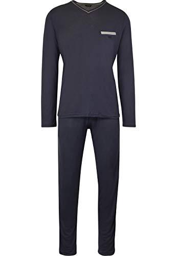 HOM - Herren - Lang-Pyjama \'Relax\' - 2-Set hochwertige Schlafmode - Navy - S