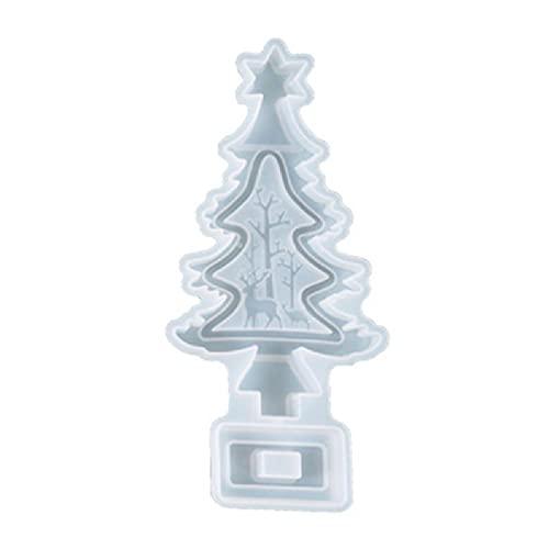 Motyw bożonarodzeniowy formy żywiczne choinka ełk święty mikołaj bałwan epoksydowa forma do odlewania na boże narodzenie wystrój stołu na przyjęcie bałwan forma do żywicy biżuteria odlewnicza forma