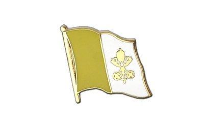 Vatikan Flaggen Pin, vatikanische Fahne 2x2cm, MaxFlags®