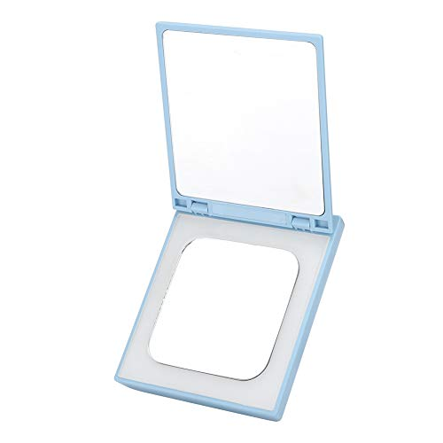 Draagbare zakspiegel, LED-make-up minispiegel, verlichte zakspiegel met 3000 mAh draagbare LED-oplader voor make-up, powerbank-spiegel voor damescadeau.