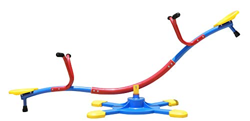 SLIDEWHIZZER Kids Outdoor Backyard Playground Seesaw: Swivels and Rotates 360 Degrees Teeter...