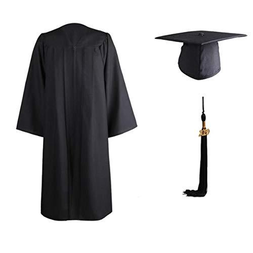 Generp Matte Akademischer Abschluss Talar Doktorhut und Quaste 2020 für Hochschule und Bachelor ,Student Graduation Hut Kappe für High School