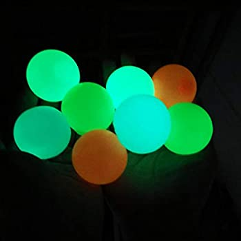 8 Pcs Sticky Wall Balls Glowing Ceiling Balls Stress Relief Balls Stick to The Wall and Slowly Fall Off Tear-Resistant Decompression Toys for ADHD OCD Anxiety