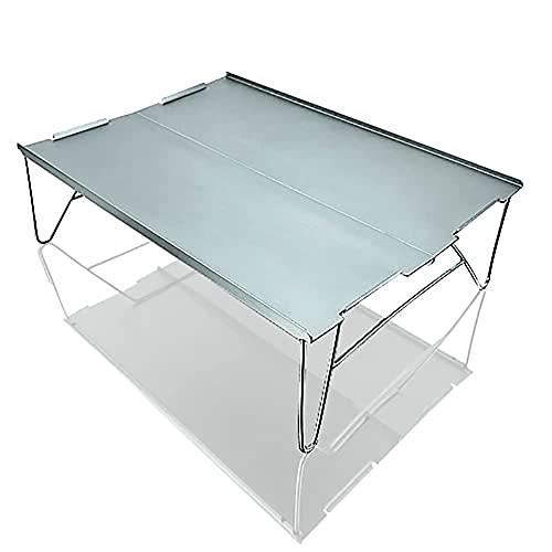 Mesa plegable DONGYANG Mesa plegable, mesa de plegable al aire libre portátil de la aleación de aluminio Escritorio plegable para el montañismo del campamento de la barbacoa (Color: Azul) : ZDZZ-8