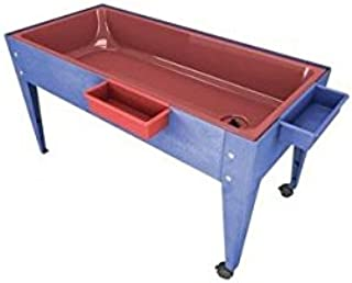 Manta Ray S6224 Red Liner Sand And Water Activity Center with Lid And 2 Casters Blue