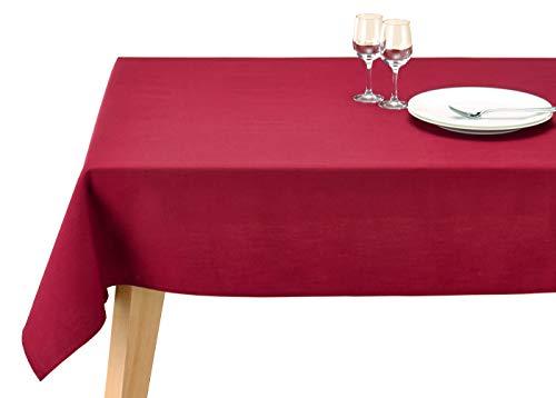 テーブルクロス ブルーミング中西 デリシャスカラー 撥水加工 (日本製) 長方形 無地 [洗濯機で洗える] 4人用テーブル向け カシス (ワイン色) 130×170cm 81