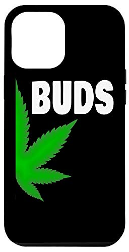 iPhone 12 Pro Max Couples Matching Best Buds BFF Marijuana Leaf Weed Gift Case