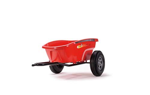 Ferbedo F030133 Anhänger, (Cart-Trailer für Gokart mit Pedalen, Kinder ab 3 Jahren, Tragekraft 10 Kg, 84 x 54 x 34 cm), Rot