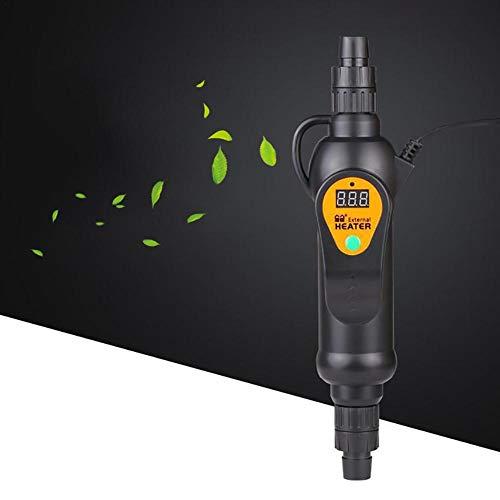 Calentador Externo Calentador Externo de Temperatura Ajustable del Tanque de Peces de Acuario LCD, Mini Calentadores de Tanque de Peces de 300w / 500w