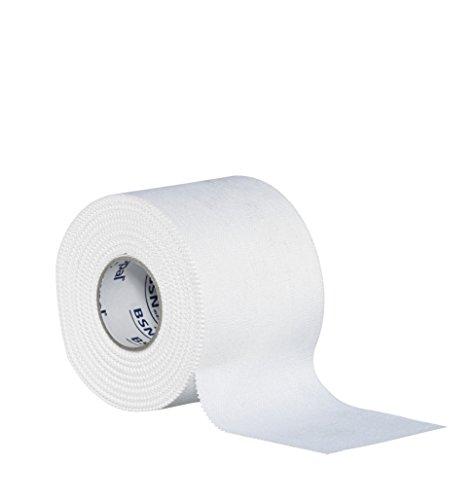 BSN Strappal Zink Oxide Tape, Easy Tear Athletic Sports Tape, Sterke stijve Strapping Tape voor Sport Blessures en Ondersteuning, Hypoallergeen, Sterke Lijm, Conformeren, 5 cm x 10 m, Wit