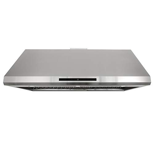 Cosmo COS-18U48 Under Cabinet Range Hood with 806 CFM, 4-Speed Fan, Soft Touch Controls, Permanent Filter, LED Lights, 48 inch, Stainless Steel, 48