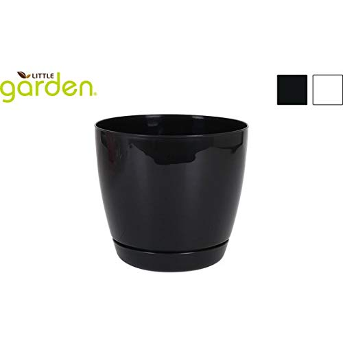 little garden Pot avec Assiette 18 cm 2 Couleurs Assorties