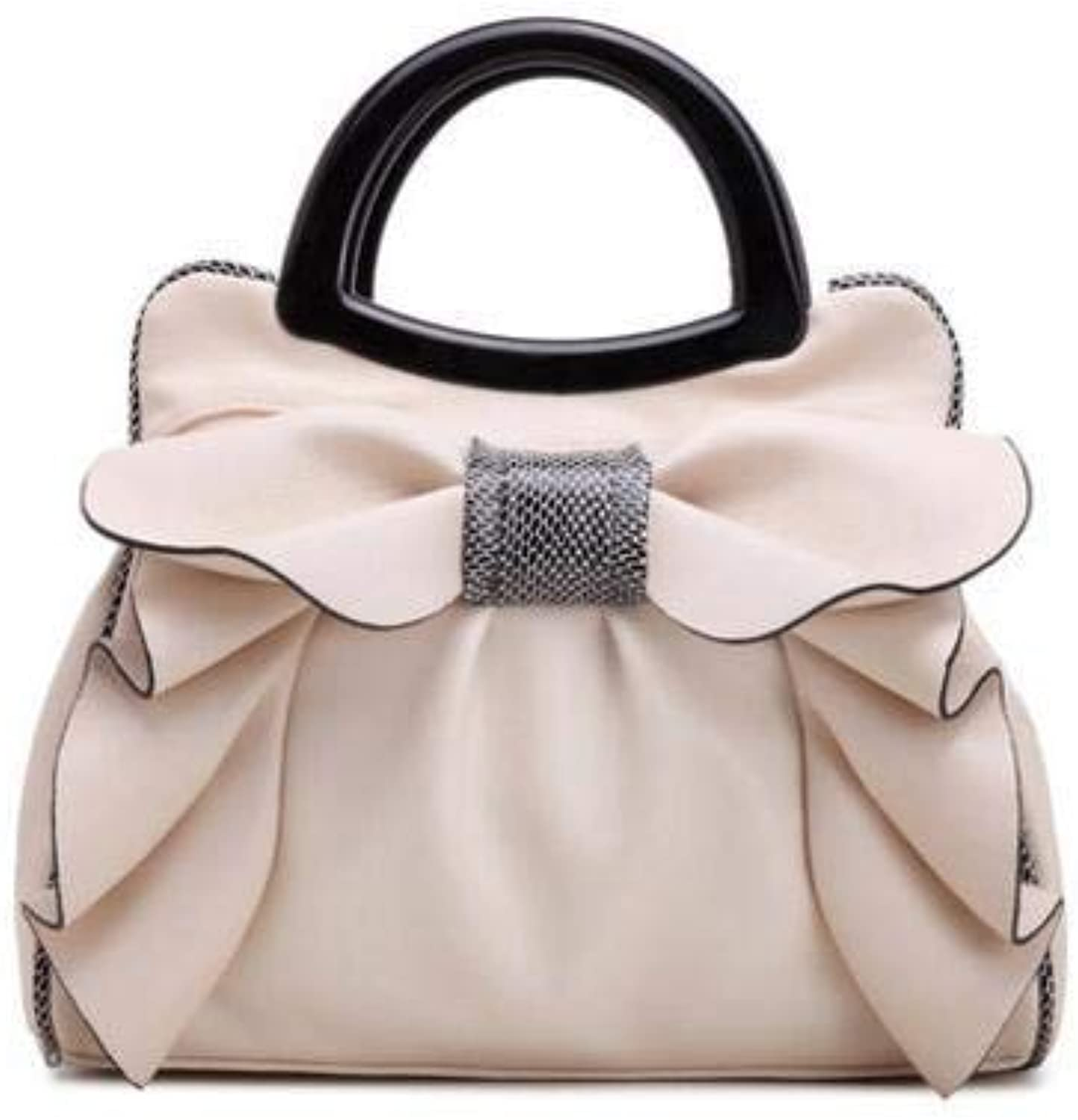 Handbags Fashion Brand top Handle Bags Women Girls Leather Bags Bow Luxury Women Tote Bag Bow Ladies Hand Bag color Beige