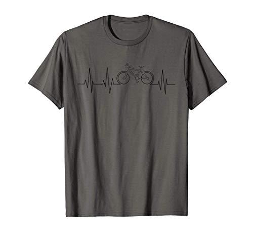 Cool Mountain Bike Gift Heartbeat   Funny Biking Rider Lover T-Shirt