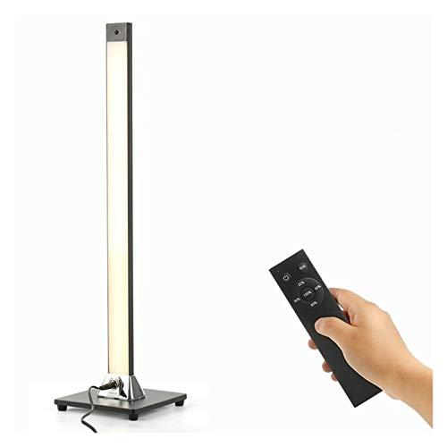 Lampara de pie Moderna minimalista Lámpara LED remoto Control en Planta luces interiores táctil de oscurecimiento de la sala dormitorio Permanente luz de la lámpara de la decoración Decoración de la h