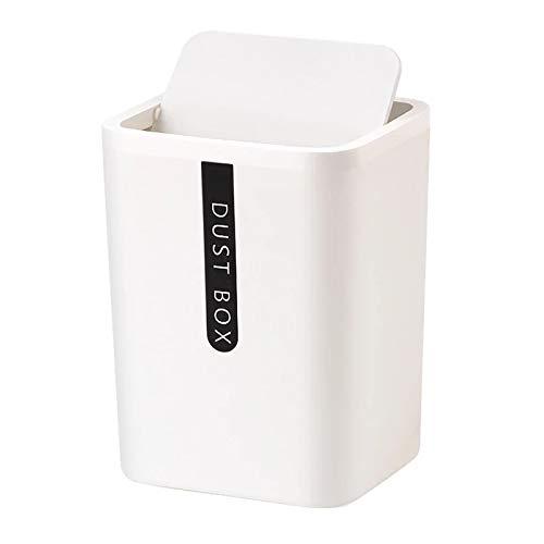 NYKK Papeleras Creative Small Win Bin Desktop Basura Cesta de la Mesa de la casa Suministros de Oficina de plástico Basura Can Dustbin Dries Barrel Box (Color : A)