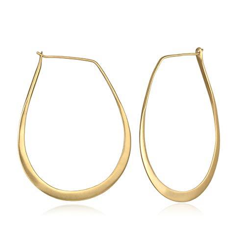 Satya Jewelry Women's Gold Hoop Earrings One Size