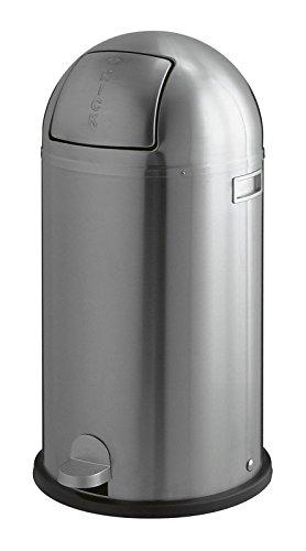 Wesco KICKBOY EDELSTAHL matt gebürstet Abfallsammler 40 Liter mit Fußtritt Mülleimer Klassiker