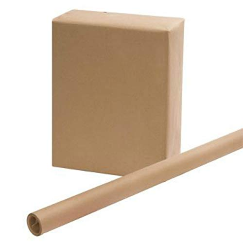 3 ROLLS - Brown Kraft Wrapping Paper 30 x 15 Feet x 3, Easy Handling Wrapping Paper