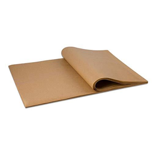 Baalaa 200 hojas de papel de pergamino antiadherentes de 30 x 40 cm, perfectas para hornear y cocinar al vapor y más