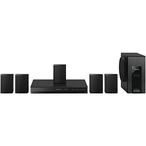 Panasonic Home Theater System SC-XH105 (Black) 5.1 Surround Sound, Upconvert DVDs to 1080p Detail