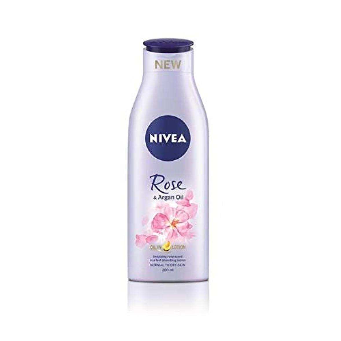 荒らす十一ロケット[Nivea ] ニベアは、ローズ&アルガンオイルボディローション200Ml - Nivea Rose & Argan Oil Body Lotion 200ml [並行輸入品]