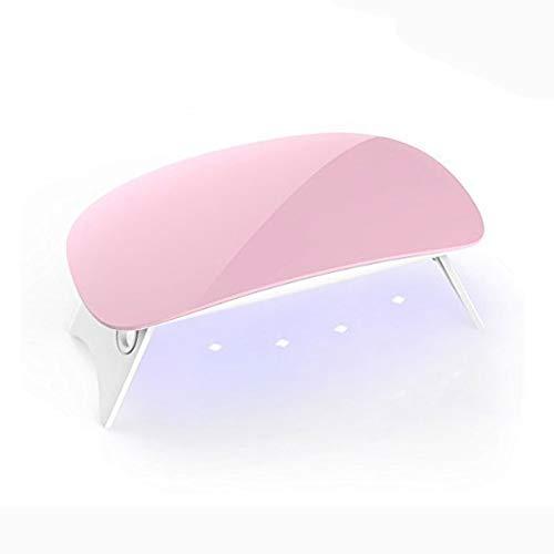 DXQDXQ High Power Mini 6W UV LED Séchoirs à Ongles et Lampes UV for Vernis à Ongles Gel Semi-Permanent Nail Art Manicure Professionnel avec Lampe à LE